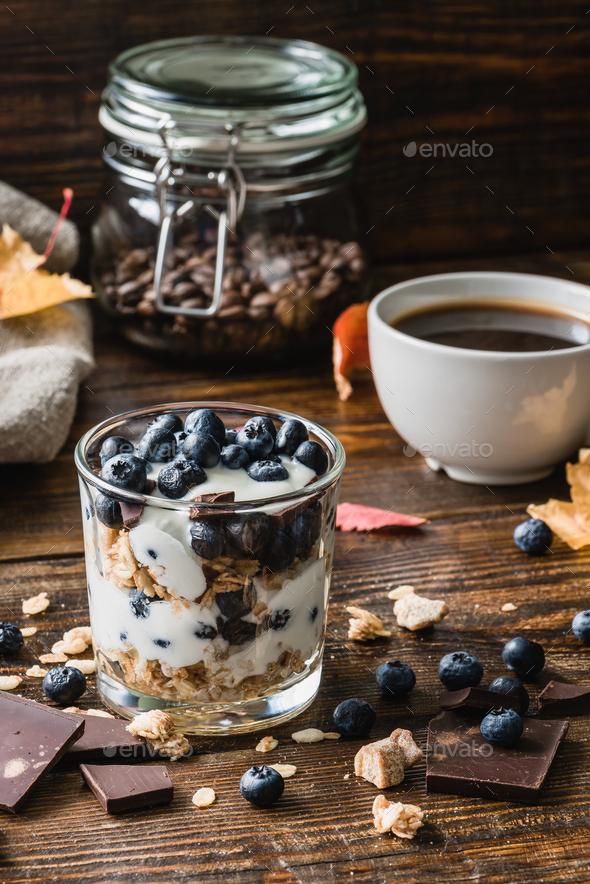 Healthy autumn breakfast - Stock Photo - Images