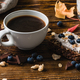 Cup of Coffee with Blueberry Toast - PhotoDune Item for Sale