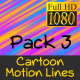Cartoon Motion Lines Pack 3 - VideoHive Item for Sale