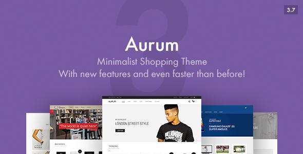 Aurum - Minimalist Shopping Theme