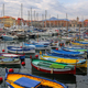 Colorful boats in the port of Nice, Cote d'Azur, French Riviera - PhotoDune Item for Sale