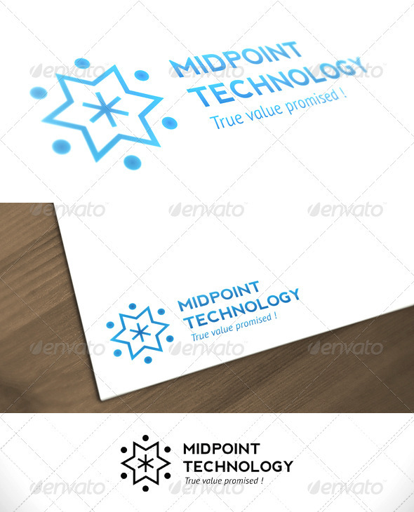 Midpoint Technology Business Premum Logo - Symbols Logo Templates