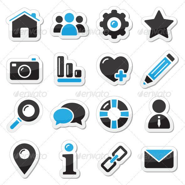 Web and internet icons set - Web Elements Vectors