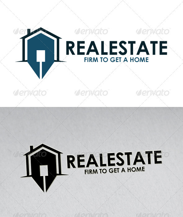 Real Estate Logo (Firm to get a Home) - Buildings Logo Templates