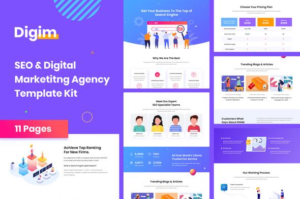 Digim – SEO & Digital Marketing Template Kit