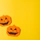 Halloween concept,paper origami pumpkin, copyspace - PhotoDune Item for Sale