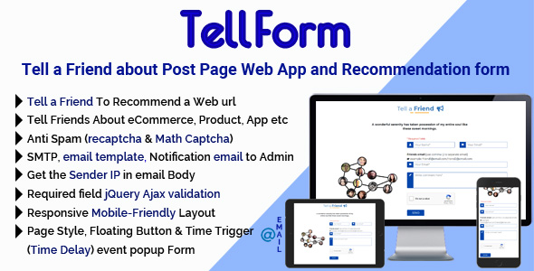 TellForm - Tell a Friend about Post Page Web App and Recommendation Form