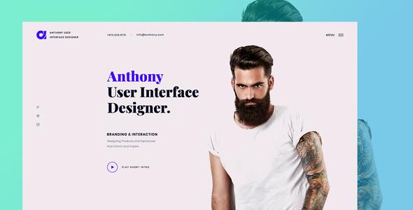 Special Anthony - Designer Portfolio Landing Template