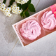 Gift box with homemade pink color marshmallows. - PhotoDune Item for Sale