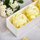 Gift box with homemade lemon yellow color marshmallows. - PhotoDune Item for Sale