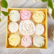 Gift box with homemade pastel multi color marshmallows. - PhotoDune Item for Sale