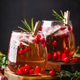 Festive Cranberry and rosemary cocktail with ice. Alcoholic or non-alcoholic cocktail - PhotoDune Item for Sale