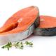 salmon steak close-up isolated on white background - PhotoDune Item for Sale