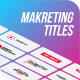 Marketing Titles & Lower-Thirds | Premiere Pro - VideoHive Item for Sale