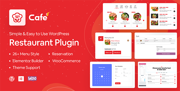 WP Cafe | Restaurant Reservation and Food Menu Plugin for WordPress