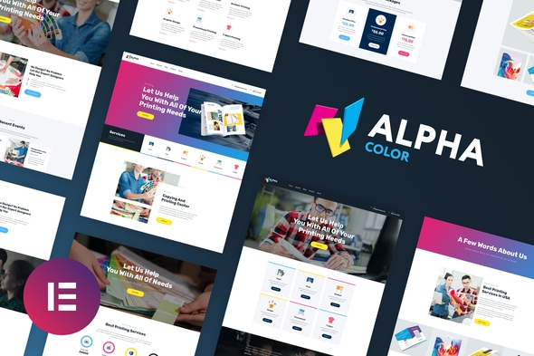 AlphaColor - Design & Printing Elementor Template Kit