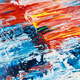 Abstract acrylic background with blue, red and white palette. - PhotoDune Item for Sale