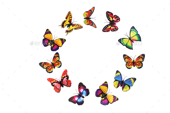 Paper Butterflies - Stock Photo - Images
