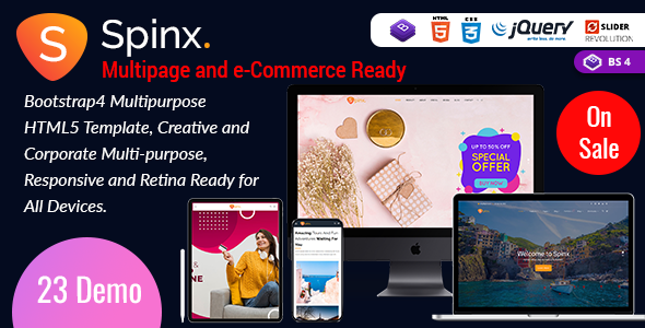 Spinx HTML - One Page Parallax