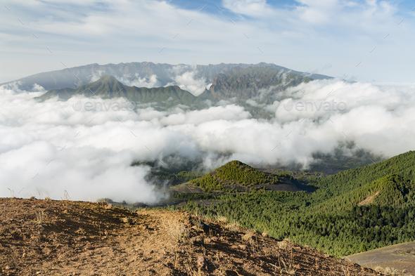 La Palma Pico Birigoyo View, Spain - Stock Photo - Images