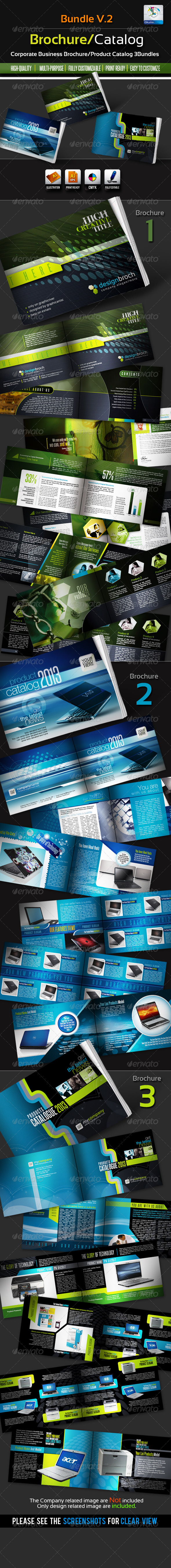 Corporate Brochure/Catalogue Bundles v.2 - Catalogs Brochures