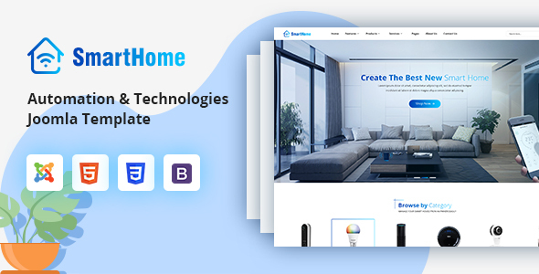 SmartHome – Smart Home Automation & Technologies Joomla Template
