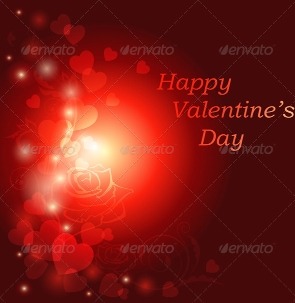 Red Valentine's Day Greeting Card - Valentines Seasons/Holidays