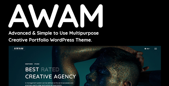 Awam – Creative Portfolio & Agency WordPress Theme