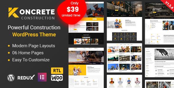 Koncrete - Construction Building WordPress Theme