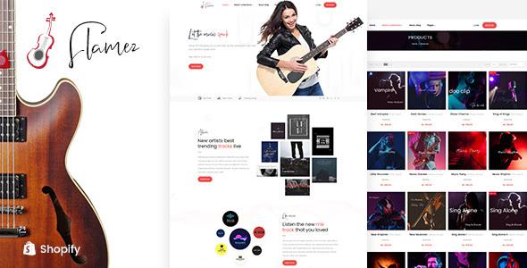 Flamez – Online Music Store Shopify Theme