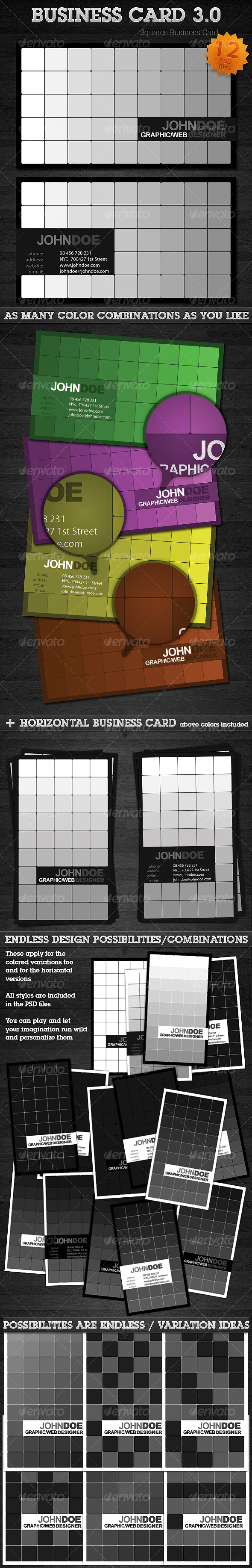 Squares Business Card 3.0 - Creative Business Cards