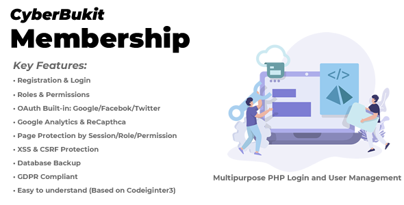 CyberBukit Membership - Multipurpose PHP Login and User Management