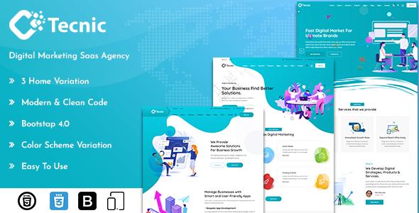 Tecnic - Digital Marketing Template + RTL Ready