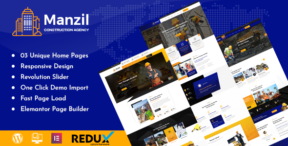 Manzil | Construction and Building WordPress Theme