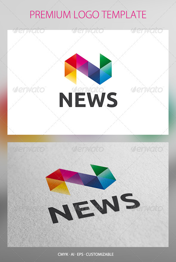 News Logo Template by domibit | GraphicRiver