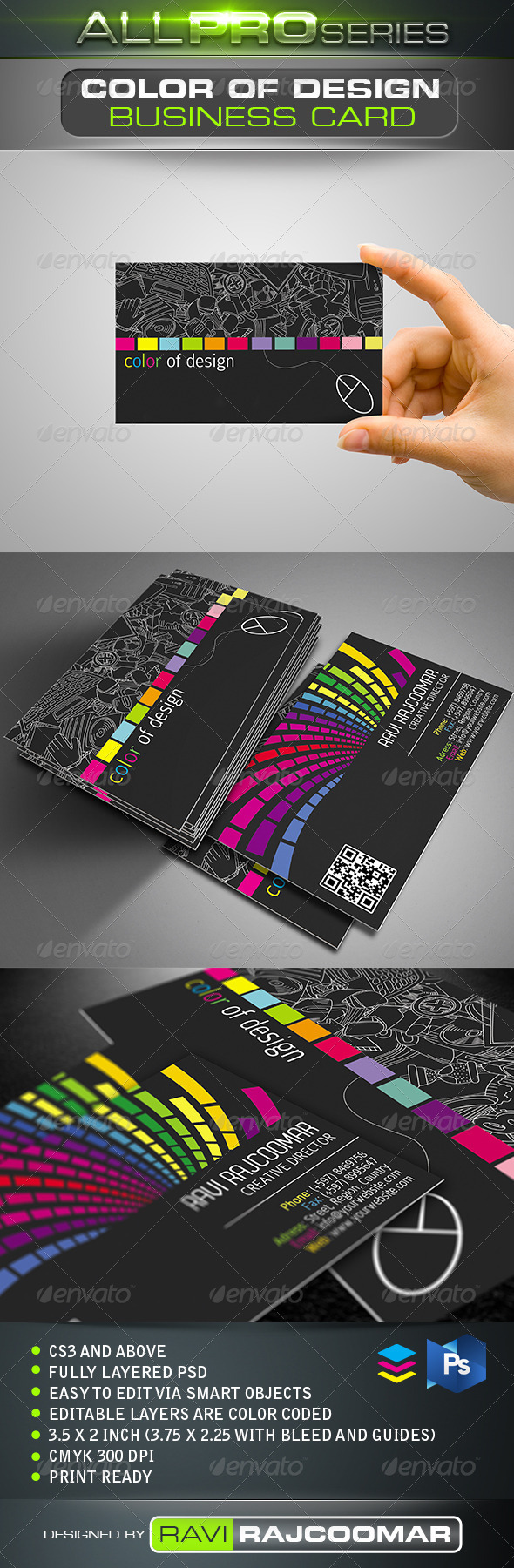 Color of Design Business Card - Business Cards Print Templates