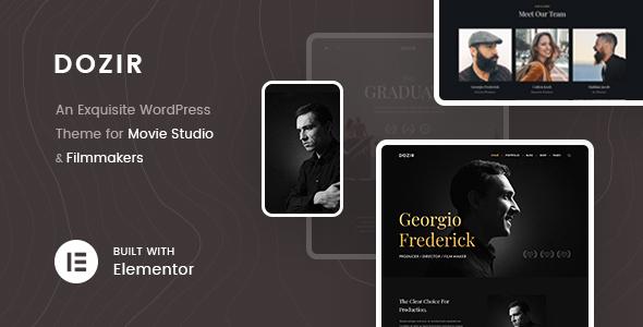 Dozir - Movie Studios & Filmmakers WordPress Theme