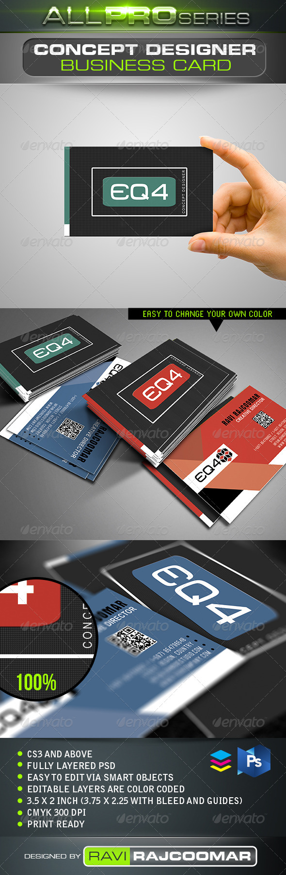 Concept Designer Business Card - Business Cards Print Templates