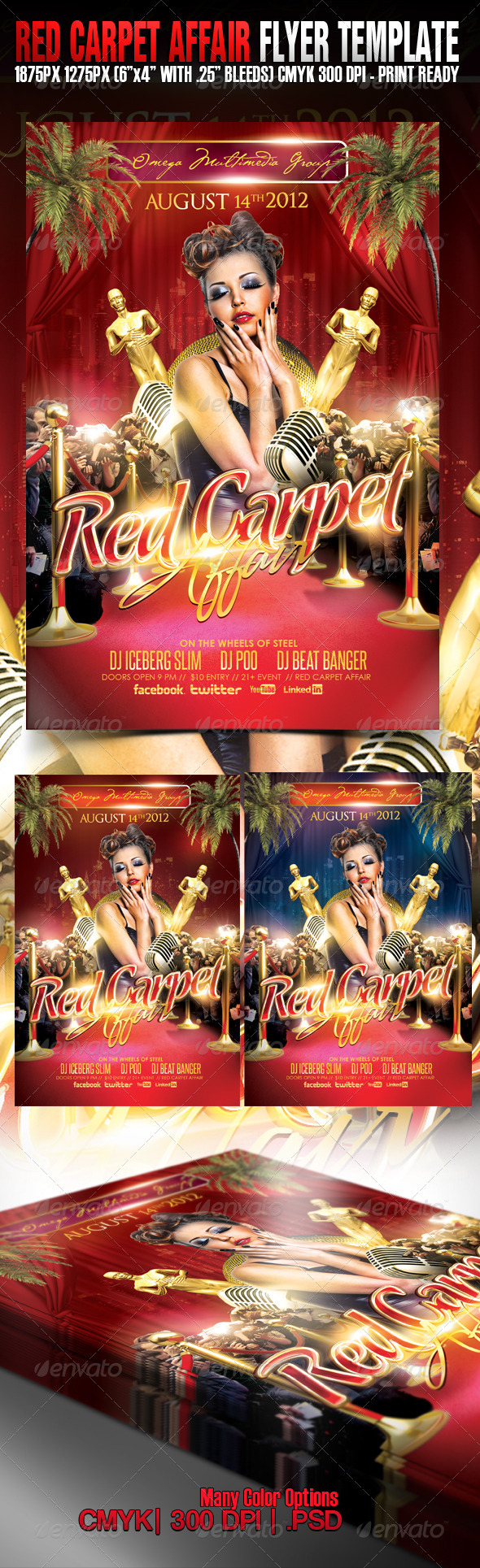 Red Carpet Affair - Events Flyers
