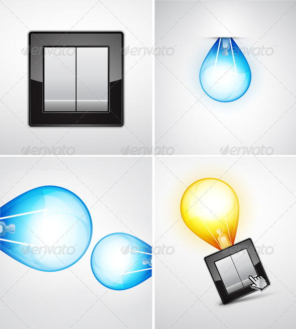 Vector Light Bulbs  - Technology Conceptual