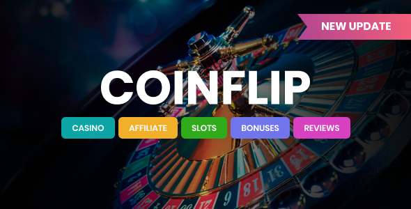 Coinflip - Casino Affiliate & Gambling WordPress Theme