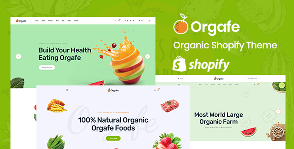 Orgafe – Organic Food Shopify Template