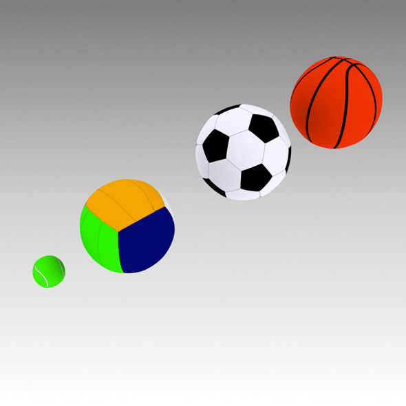 3D Sport Balls - 3DOcean Item for Sale