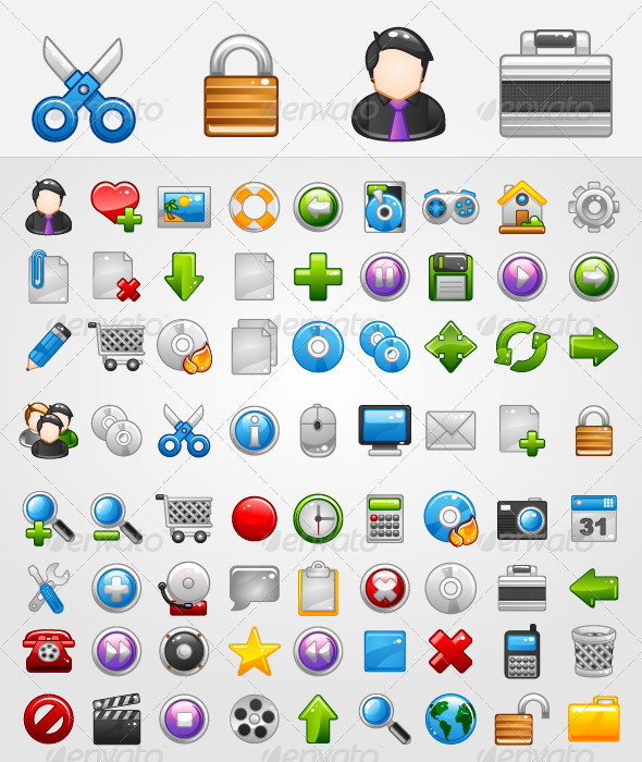 General 72 Icons - Web Icons