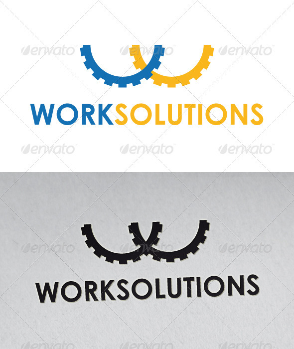 Work Solutions Logo - Letters Logo Templates