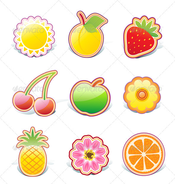 Fruity Elements  - Decorative Symbols Decorative