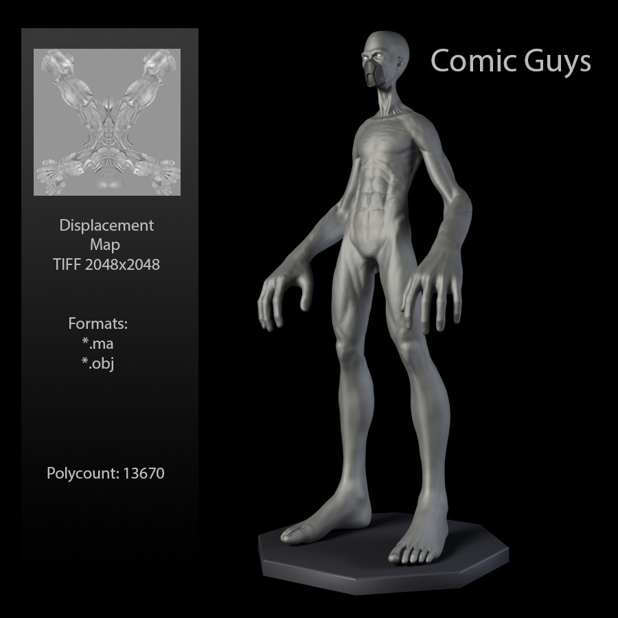 Comic Guy - 3DOcean Item for Sale