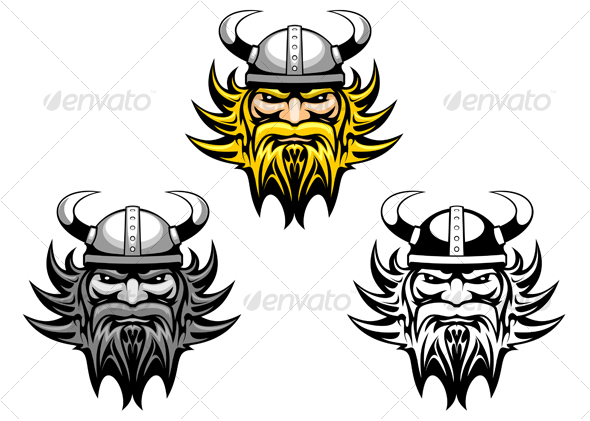 Ancient viking warrior - Tattoos Vectors