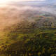 Beautiful Fog over Countryside. Aerial Drone View - PhotoDune Item for Sale