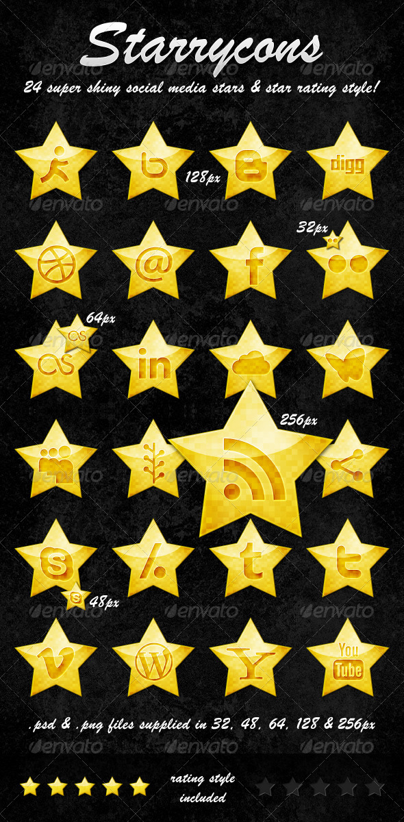 Starrycons - Social Media Icons - Media Icons